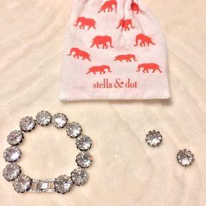 Stella & Dot Crystal Bracelet and Earrings